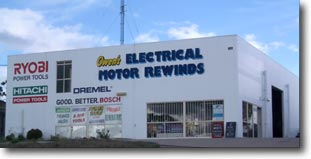 Owen's Electric Motor Rewinds Gympie - repair and sales of electric motors and generators.